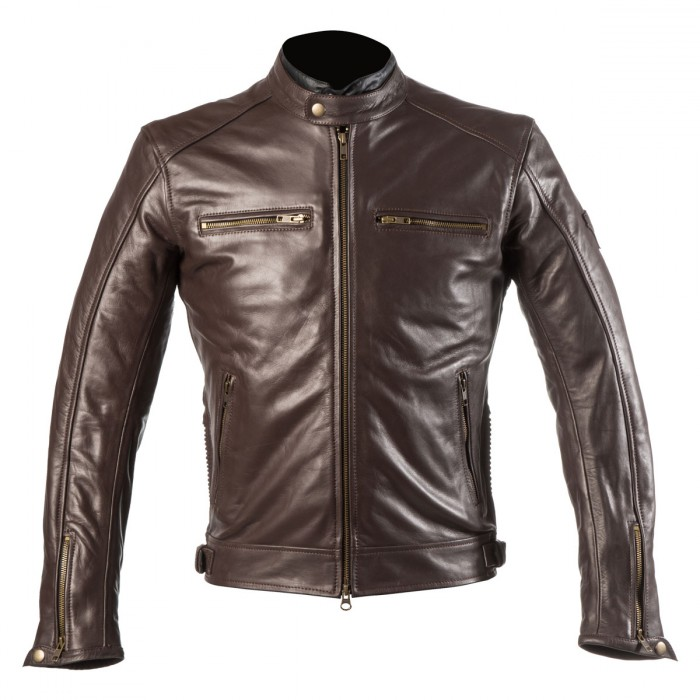 72909ff70e0 Chaqueta Moto Piel Marron By City